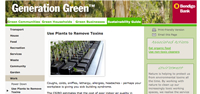 Generation Green - Use plants to remove toxins